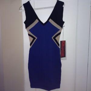 Wow Couture bodycon mini dress with illusion